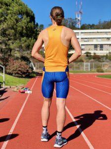 Team uniform 2018 singlet and compression shorts back